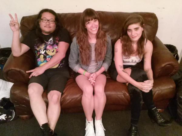 Unsigned Sunday's Lara McCaffrey With Bobb Bruno & Bethany Cosentino of Best Coast