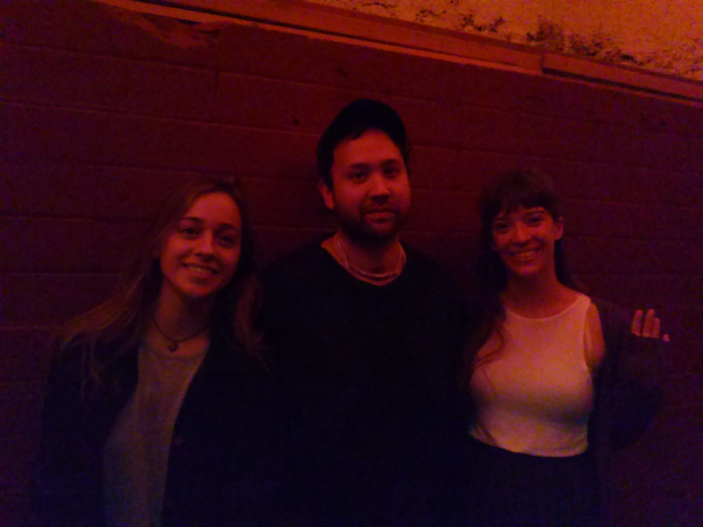 Lara McCaffrey with Ruban Nielson of Unknown Mortal Orchestra and her little sister, Diana McCaffrey. August 7, 2015